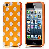 Polka Dot Case - iPhone 5 / iPhone 5S / iPhone SE - Orange