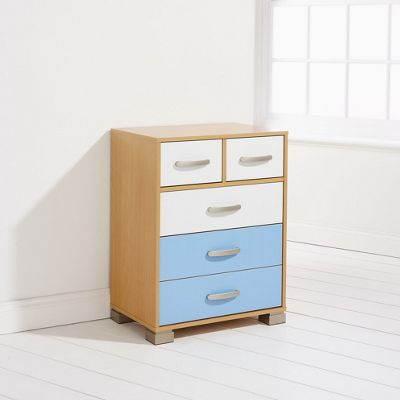 Elements Athena 2 Over 3 Drawer Chest - Blue