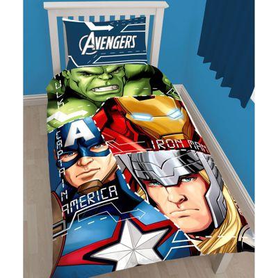 Marvel Avengers Tech Single Duvet Cover and Pillowcase Set