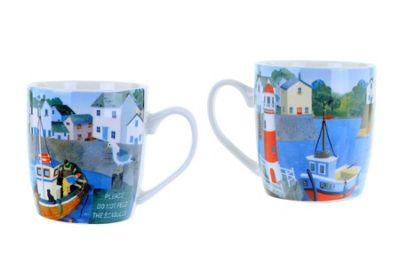 Jan Pashley Mug Harbour View Design
