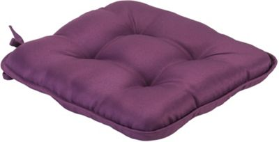Purple Quilted Style Seat Pad Cushion With Ties