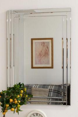 Large Modern Venetian Glass Double Framed Wall Mirror 2Ft X 3Ft (60cm X 90cm)
