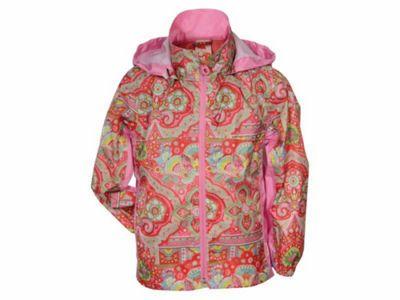 Agu Oilily Waterproof Girls Rain Jacket Hooded Pink 2-3 Years