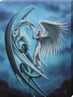 Anne Stokes Silver Back Canvas Print
