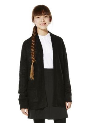 F&F School Oversized Chunky Knit Cardigan 5-6 years Black