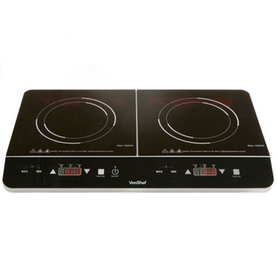 VonShef Twin Digital Induction Hob - Versatile & Fully Portable Cooking Hob