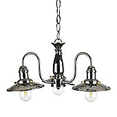 Ukai Fisherman's 3 Way Ceiling Light, Chrome