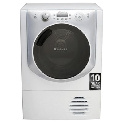 Hotpoint Aqualtis AQC9BF7I1  Freestanding Condenser Tumble Dryer, 9kg Load, B Energy Rating, White