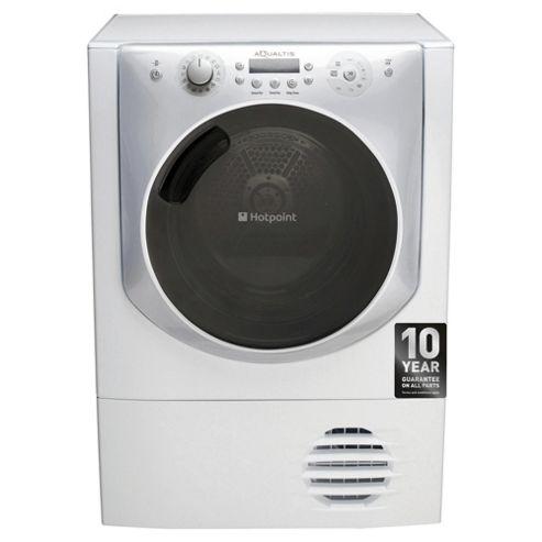 Hotpoint Aqualtis AQC9BF7I1  Freestanding Condenser Tumble Dryer, 9kg Load, B Energy Rating, White