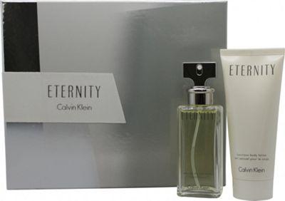 Calvin Klein Eternity Gift Set 50ml EDP + 100ml Body Lotion For Women