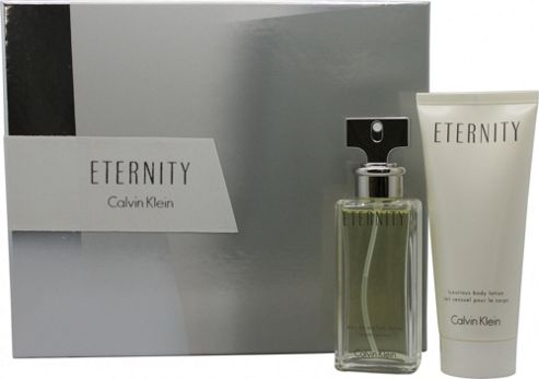 Calvin Klein Eternity Gift Set 50ml EDP + 100ml Body Lotion For Women