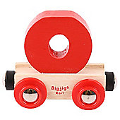 Bigjigs Rail Rail Name Letter O (Red)