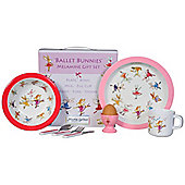 Children's Melamine Dinner Set 7 pc – Ballet Bunnies
