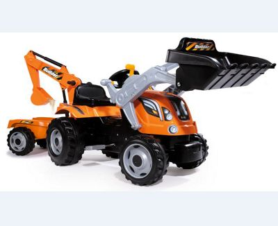SMOBY Builder Max Tractor with Trailer