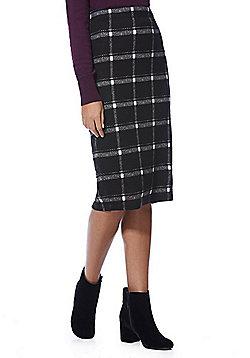 F&F Checked Tube Skirt - Black
