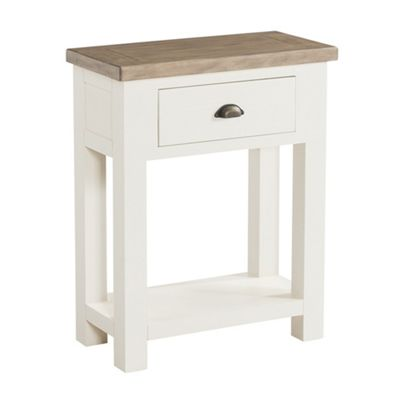 St Ives Painted Telephone Table - Hall Table - Linen White