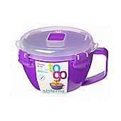 Sistema Klip It Microwave Noodle Bowl, 940ml, Purple
