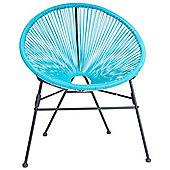 Bentley Garden Retro Lounge Single Chairs - Aqua Blue