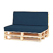 Water Resistant Pallet Large Back Cushion - Navy