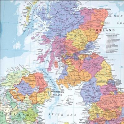 Gift Wrap - United Kingdom Map
