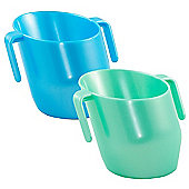 DOIDY Toddler Weening Training Cup TWIN PACK - Azure Blue & Mint Pearl