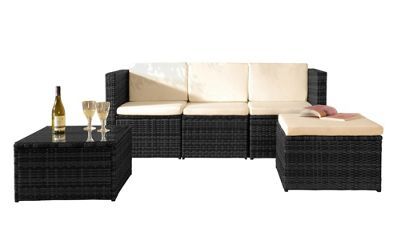 Rattan Garden Furniture Tesco buy comfy living rattan garden furniture corner sofa with glass