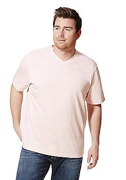 Jacamo V-Neck T-Shirt - Pink