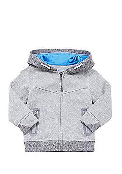 F&F Mesh Lined Zip-Through Hoodie - Marl grey