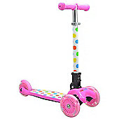 Kiddimoto U-Zoom Scooter Pastel Dotty