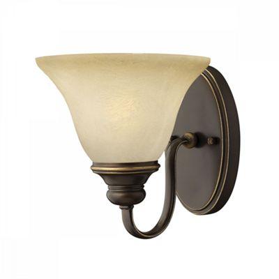 Antique Bronze 1lt Wall Light - 1 x 60W E27