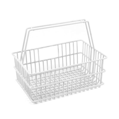 Design Ideas La Crate Bathroom Storage Carry Basket Small White