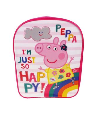 Peppa Pig 'Be Happy' Pvc Front School Bag Rucksack Backpack