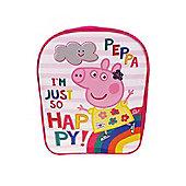 Peppa Pig 'Be Happy' Pvc Front School Bag Rucksack Backpack