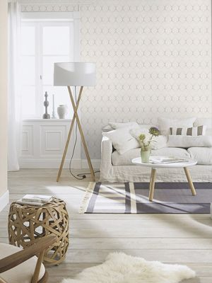 Fretwork Geometric Wallpaper Grey Rasch 701609