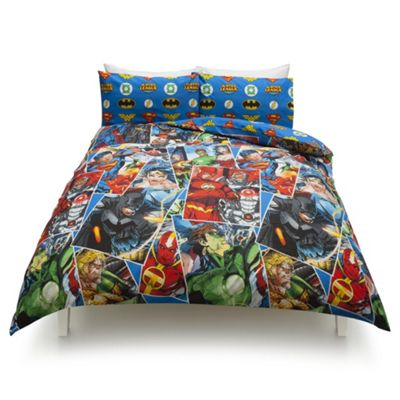 buy dc comics justice league double duvet set from our children's