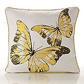 Alan Symonds Tapestry Flutterby Yellow Cushion Cover - 45x45cm