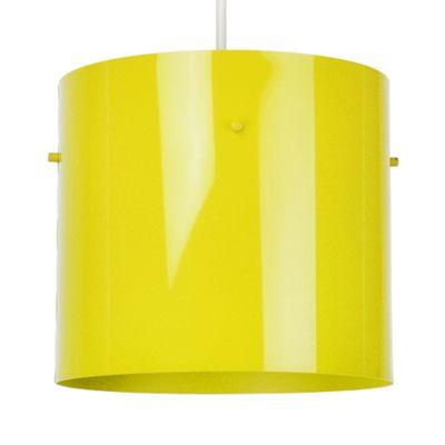 Modern Ceiling Pendant Light Shade, Gloss Yellow