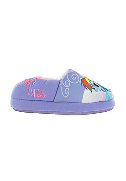 Girls My Little Pony Lilac Faux Fur Lined Slippers Kids UK Infant Sizes 6 to 12 - Purple