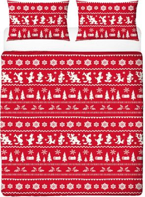Mickey and Minnie Mouse Christmas King Size Bedding - Romance