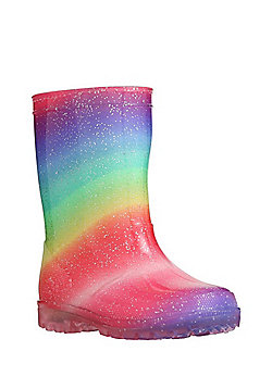 F&F Rainbow Light-Up Wellies - Multi