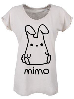 Mimo Raw Edged Collar and Roll Sleeve Vintage Women's T-shirt