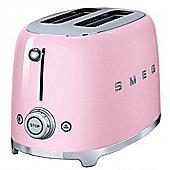Smeg TSF01PKUK Retro Pink 2 Slice Toaster