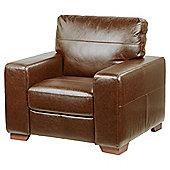 Abbott Leather Armchair, Tan