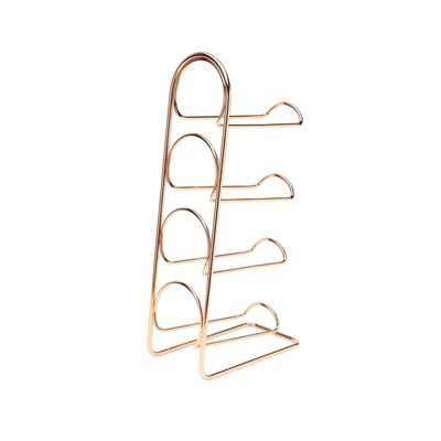 Hahn Pisa Freestanding Wine Rack Copper for Four Bottles
