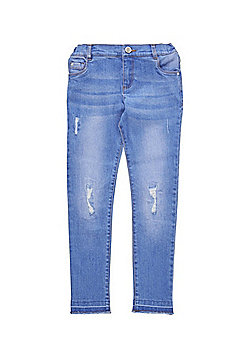 F&F Ripped Knee Jeans - Bright blue