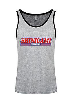 Shinigami In Training Heather & Black Ringer Men's Grey Vest - Silver