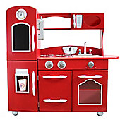 Teamson Kids Classic Play Kitchen - Red (1 Piece)