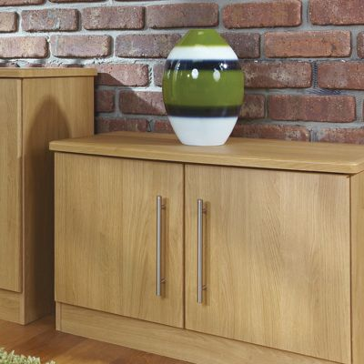 Welcome Furniture Living Room Low 2 Door Unit - Modern Oak