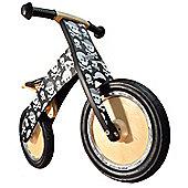 Kiddimoto Kurve - Skullz Wooden Balance Bike suitable from 3 years+