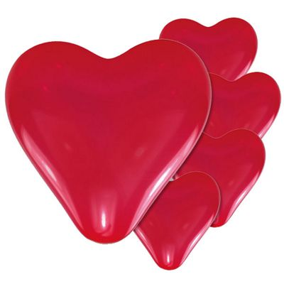 Red Heart Balloons - 11 inch - 5 Pack